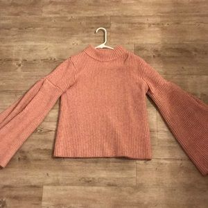 Endless Rose blush colored bell sleeve sweater